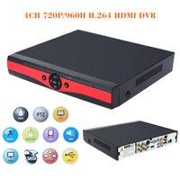 al por mayor cámaras de vigilancia del reino unido-4CH 720P / 960H CCTV DVR cámara de vigilancia de vídeo de vigilancia independiente H.264 HDMI detección de movimiento PTZ de control S454