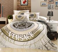comforter sets - 2016 TOP quality cotton reactive print Designers d bedding sets flowers print comforter duvet covers bedclothes bed Linen
