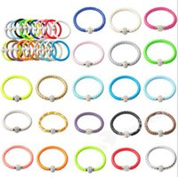 Wholesale 2015 Mix Color New Shamballa PU Leather Bracelets CZ Disco Crystal Magnetic Clasp Bracelet Crystal Ball Charms Bangle Wristband DHL Factory