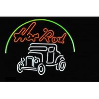 auto car dealers - NEW ROD HOTRODS LOGO AUTO CAR DEALER HANDICRAFT NEON LIGHT BEER BAR PUB REAL GLASS TUBE SIGN x14 quot