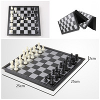 Wholesale 2015 Folding Champions Chess Set in Travel Magnetic Chess and Checkers Set quot kid s gift D714J