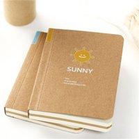 Wholesale Cute Blank Mini Kraft Paper Pocket Diary Notebook Journal Record Stationery Office School Supplies Sketchbook Notepad