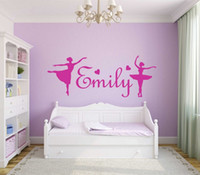 ballerina wall mural - Personalised Girls Name Wall Art Sticker Ballerina Vinyl Decal Home Decor