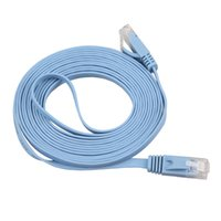 Wholesale Durable M RJ45 CAT6 Gbps Thin Flat Fiber Optic Network Flat Cable Wire
