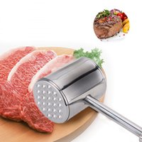 Wholesale Practical Meat Knock Mallet Pounder Stainless Steel Steak Beef Hammer Kitchen Cooking Tools Two Sides Meat Poultry Tools
