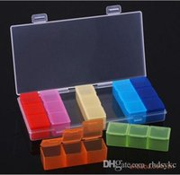 7days 17.5*8*2cm as shown Weekly Plastic Pill Storage 7 Days Detachable Pillboxes 17.5*8*2cm outdoor colorful portable medicine boxes pill cases