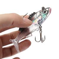 Wholesale 10pcs Paillette Fishing Lure cm g Artificial Soft bait Carp Crank bait with Treble Tackle Hooks Fishing Accessories