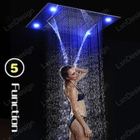 bathroom shower fixtures - Best mm Rain Shower Heads Bathroom Shower Accessories Recessed Ceiling Mounted LED Rainfall Shower Heads Fixture