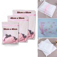 Wholesale 3Pcs Set Portable Zipped Washing Laundry Bags Net Mesh Bra Socks Underwear Clothes
