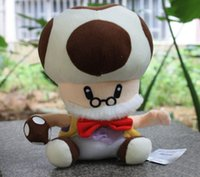 Wholesale 18cm Super Mario Bro plush Toys Mushroom Stuffed Dolls Kids Toys cm Chritmas Brithday Gifts Super Cute Dolls