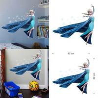 Wholesale S Queen Elsa Princess girls bedroom Decal decor wall sticker Mural