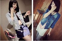 the four seasons - 2015 new women s lady s Korean jean jacket fashion reglan casual short jacket for the four seasons necessary