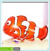 balloon clown - Inch Cartoon clown fish foil balloons Balloon Ball Helium Inflable Giant Latex Balloons For Christams Decoration JIA252