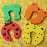 baby gates - High Quality Baby Gate x Baby Safety Finger Pinch Guard Door Stopper Baby Safety Products gate card Animal Model