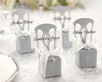Wedding aspen silver - KATE ASPEN Miniature Silver Chair Favor Box wedding decoration Card Holder and Favor Box