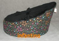 Wholesale Star with black micro soft suede Top Baby bean bag lounger