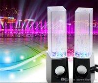 Precio de Fuente de la música llevado-Danza altavoz Active Water Mini portátil USB LED Light Música Altavoz Fuente Altavoz Luz jugador 3.5mm para Samsung iphone ipad PC MP3 MP4