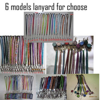 Wholesale 10pcs Each color Rhinestone Bling Crystal Lanyard ID Badge Cell Phone Retractable Reel Holder Key Vertical ID Badge Holde