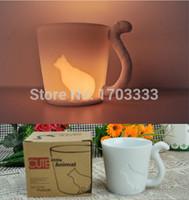 animal candlesticks - Cute kinto animal cup frosted ceramic candlestick mug F3E