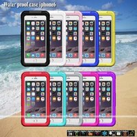 cases - 100pcs high quality Cell Phone waterproof Protective Case For iphone Cover Skin Shock Proof