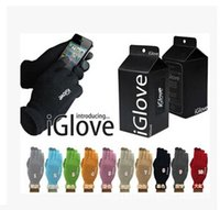 Wholesale With retail pack High quality Unisex iGlove Capacitive Touch Screen Gloves for iphone C S for ipad for smart phone iGloves gloves