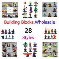 Wholesale set Super heroes The Avengers Building Blocks Ninja Turtles Minifigure kids toys action mini figure bricks