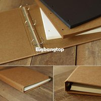 Wholesale 1509 A4 Large size Blank loose leaf notebook hand painted graffiti handmade kraft DIY photo album Craft Paper sets for scrapbooking