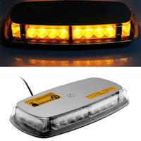 Wholesale Vehicle Roof Top Yellow LED Emergency Warning Strobe Light Lamp Magnetic Base LED Warning Lights