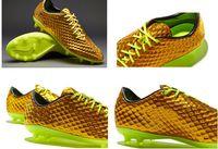Wholesale 2014 New Hot Sale cheap Neymar Hypervenom Phantom Premium FG soccer shoes footall shoes for men sneakers Gold Volt Black Boots