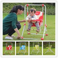 Wholesale 3 Colors Indoor Baby Swing High Grade Metal Steel Outdoor Child Swing Hot Sale Infant Hanging Chair Multi purpose Dining Chair