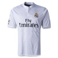 clothing new jersey - New Real Madrid home soccer clothes shirt Thai Quality Soccer Jersey shirt S M L XL in Polyester white red black blue with name and number
