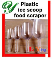 Wholesale plastic ice cube scoop party buffet serving candy sweets flour Coffee Bean grain Dog Pet Food scoops sizes clear kitchen bar accessories