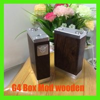 18650 18650 battery  Newest Acrylic Box Mod G4 Box Mod wooden Dual 18650 Battery Adjustable Copper pin 510 thread atomizer VS ABS V2