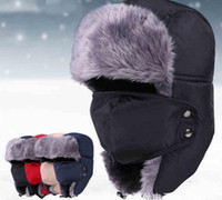 Wholesale 2015 Free shopping Unisex Winter Ear Flap Hat Trooper Trapper Hunting Hat