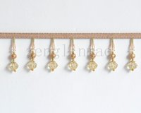Wholesale Fashion Crystal Handmade Trims Lace Sewing Curtain meter