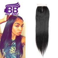 Wholesale Brazilian Straight Hair Cheap Brazilian Hair Piece Lace Top Closure Unprocessed Virgin Brazilian Hair Human Hair Weaving Brazilian