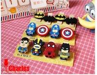 Wholesale 2015 Wooden cartoon sealing clip small clip Superman Spiderman Batman Captain America