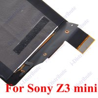 Wholesale 10pcs A Lcd Display Touch Screen For Sony Xperia Z3 mini Full Assembly Replacement Repair Parts