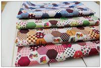 Wholesale Patchwork Assorted Pre Cut Grandmother garden Cotton Linen Fabric DIY Vintage Craft Workshop Fabric cm