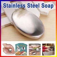 Wholesale Magic Stainless Steel Soap Oval Shape Cleaning Soap Odor Smell Remover Chef Kitchen Bar Hand Odour Eliminating household item