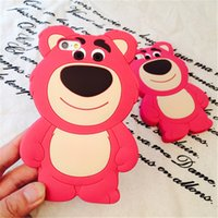 apple south korea - Back Cover For iPhone inch iphone plus iphone s New Cute Cartoon Case South Korea strawberry bear Cellphone