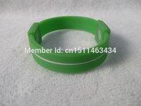 Cheap Wholesale-Retailing Without Box Fruit Green-White USA Style Silicone Bracelet Power Wristband Energy Balance Bracelet Hologram Bangle