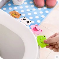 Wholesale Cute cartoon toilet cover lifter creative toilet cover portable device not dirty hands lifted the toilet cover A332