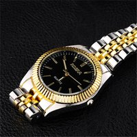 mens gold watches - Hot sale OEM Brand Gold Plated Stainless Steel fashion Janpan Quartz Movement Mens Wrist Watch for Man