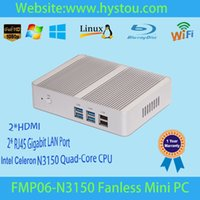 barebone systems - Small Fanless PC Mini Computer Barebone System with Intel Celeron Processor N3150 GHz