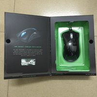 Wholesale 2015 Hot Razer Death Adder Mouse Upgrade DPI Competitive games must razer deathadder Green and Blue Light In stock