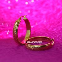 Wholesale e193 Shining k ct Gold Filled Elegant Ladies hoop Earrings
