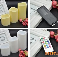 Wholesale HOT LED Flameless Remote Control Color changing Led Candle Light Set Romantic Candle Lamp Wedding gift Christmas Decoration size