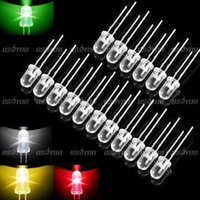 Wholesale 4 Colors LED Diodes mm Round Super Bright Bulb Panel Board Lamp Light Drop Shipping order lt no track