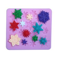 Wholesale cm snowflake DIY sugar cake baking mold liquid silicone mold realistic D model cake modelling baking tools party decor